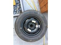 Spare wheel and good tyre fits Peugeot 307