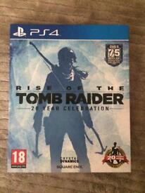 Rise Of The Tomb Raider, 20 year celebration (PS4 game) (Good Condition)