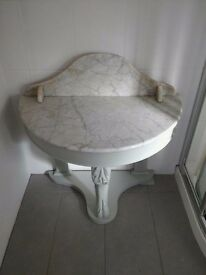 Marble topped washstand.