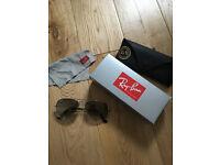 Ray Ban Aviator Silver Sunglasses - Size 55
