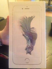 New, Sealed - iphone 6s - 64gb - silver - EE network