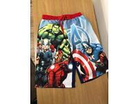 Marvel swim shorts age 12/13