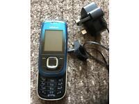 Nokia 2680s Blue Slide Phone + Charger UNLOCKED