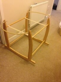 Moses basket with stand, excellent condition