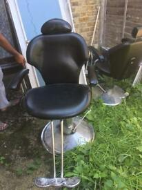 Barber or threading chair