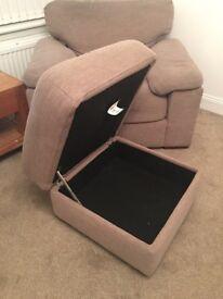 Reid's 3 seater sofa,chair & footstool