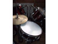 six piece drum set