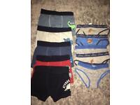 Boys boxer shorts and briefs x 10 pairs