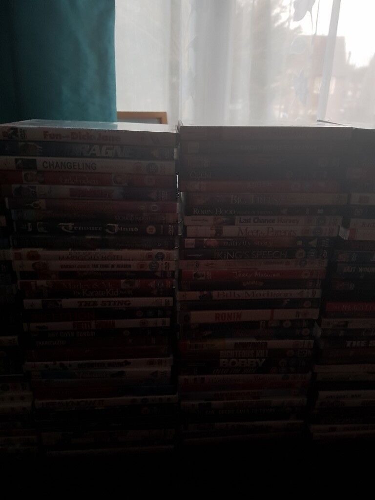 129( all toghether) Dvds, a movie for every one
