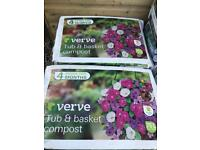 75L Tub and basket compost £2.50 each/ 5 for £10