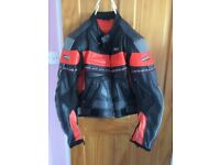 Akita ladies leather motorcycle jacket
