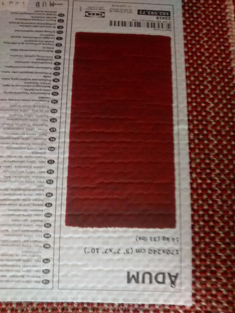 Red Rug Ikea Adum Image 1 Of 2