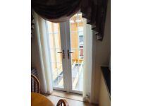 White UPVC French Doors - 212cms x 117cms - Triple Glazed