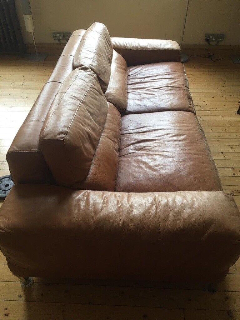 Two good quality Italian leather sofas | in Kennington, London | Gumtree