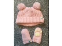 Joules hat and gloves