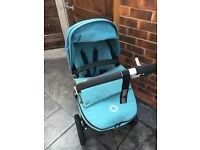Bugaboo cameleon 3, with car seat in petrol blue. Immaculate condition
