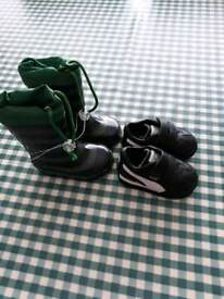 Size 3 infant boys next wellies and puma trainers
