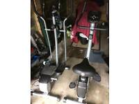 Exercise bike cross trainer
