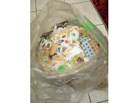 Large sack of stamps