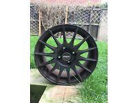 Fox Racing Alloy Wheels x 4 in Black 4 stud 16 inch
