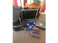 Pc and two laptops