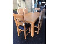 Brand new***Hampshire extendable solid oak table and 6 chairs--ONLY £669