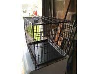 Medium puppy crate fold up hardly used