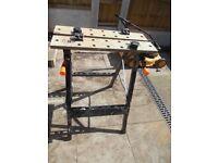 black folding workbench