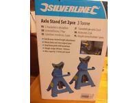 2 Axle Stands - Silverline - Unused