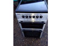 £97.00 Beko sls/black ceramic electric cooker+50cm+3 months warranty for £97.00