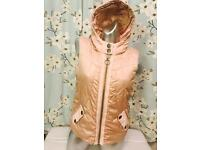 Girls gold metallic river island gilet body warmer age 12 excellent condition