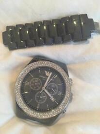 Armani Black Ceramic Watch