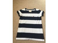 Navy and white striped Hollister T Shirt