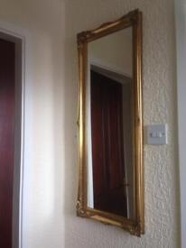 Brass mirror in very good condition