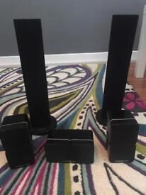 Surround sound speakers (Cambridge audio and pioneer)