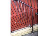 Black railing for steps