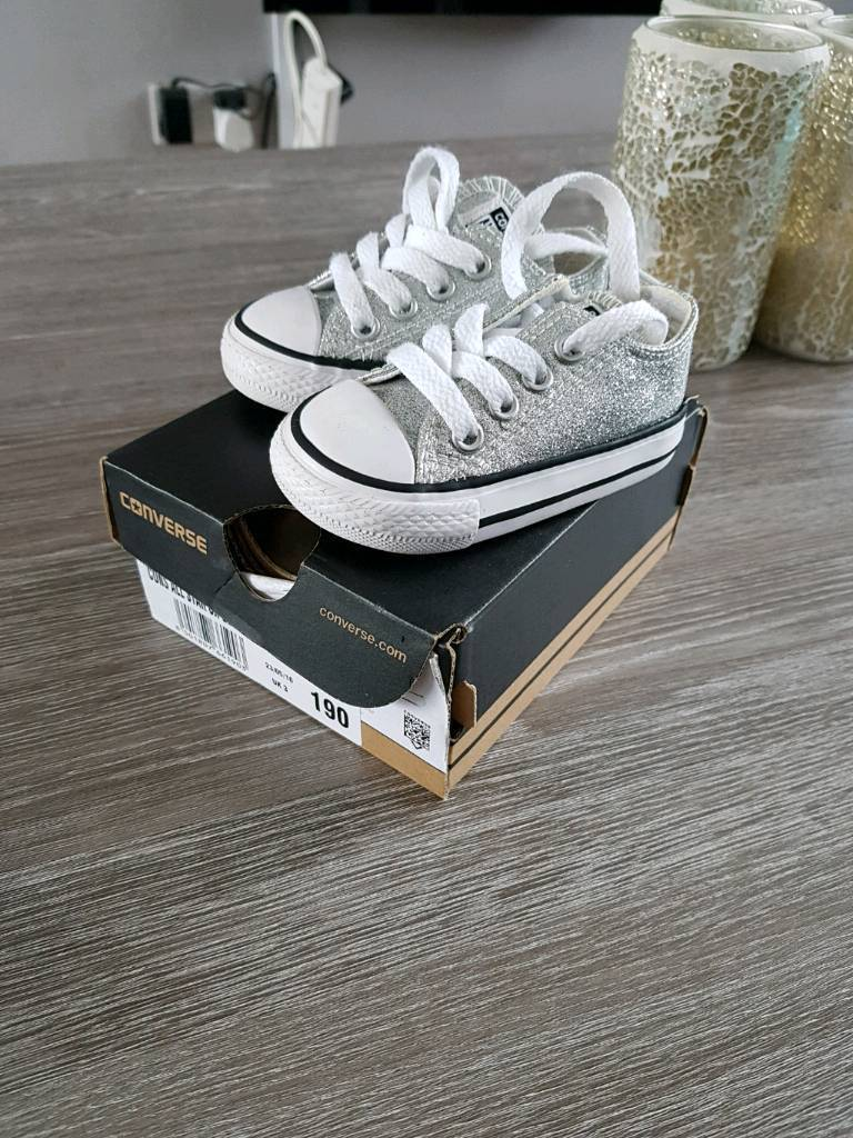 Baby glitter converse size 3 toddler worn once
