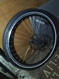 Electric bike disc brake front wheel with tyre like new central London bargain