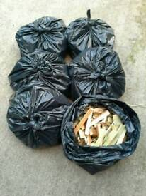 For sale 6 bags of kindling