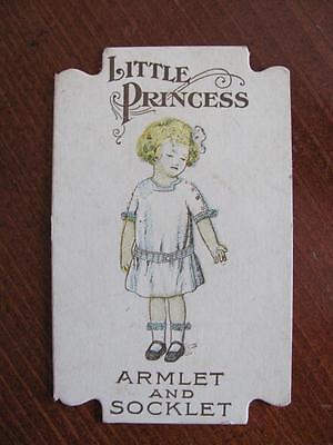Vtg Little Princess Armlet & Socklet Tag Childrens Fashion Clothing Accessory