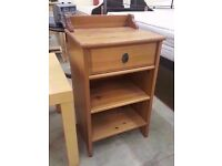 Nice pine beside table with one drawer