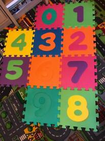 Play mat numbers