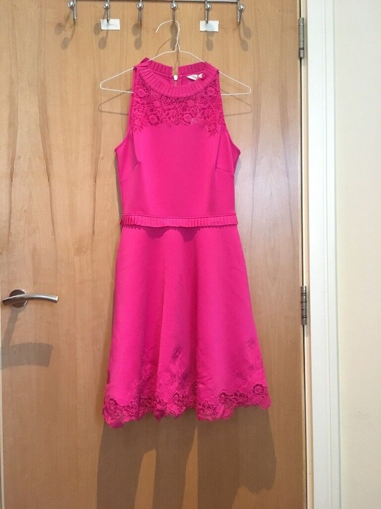 New with tags Fuschia Ted Baker Zaffron Skater Dress Size 1 (UK Size 8) RRP £160