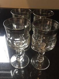 Italian crystal glasses