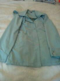 Ladies teal coat