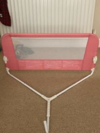 Lindham, Child's bed safety guard. From mothercare. In pink.