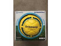 Dribble Up app enabled football in box, includes tripod
