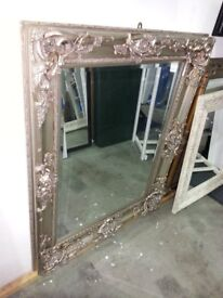 Ornate Framed Mirror in Champagne, 106cm x 130cm, £90