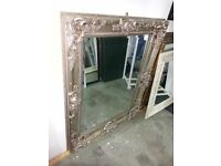 Ornate Framed Mirror in Champagne, 106cm x 130cm, £90