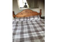 Double bed chest draws solid pine